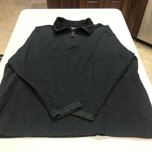 Haggar 1/4 Zip Front Pullover Dark Gray XL